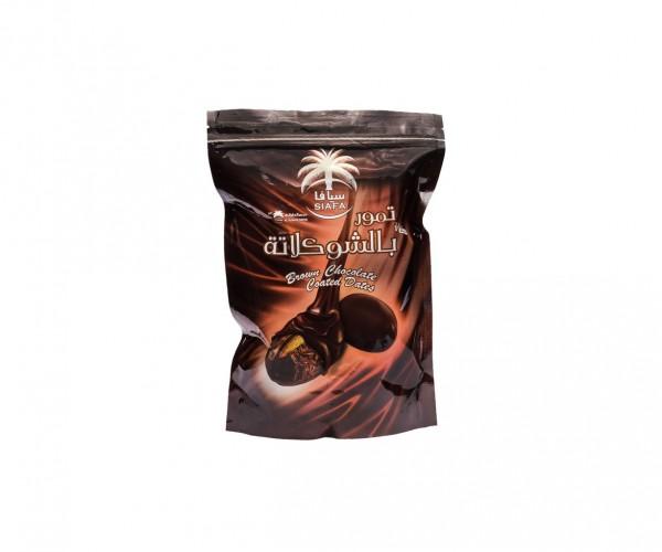 Финики с миндалём в темном шоколаде