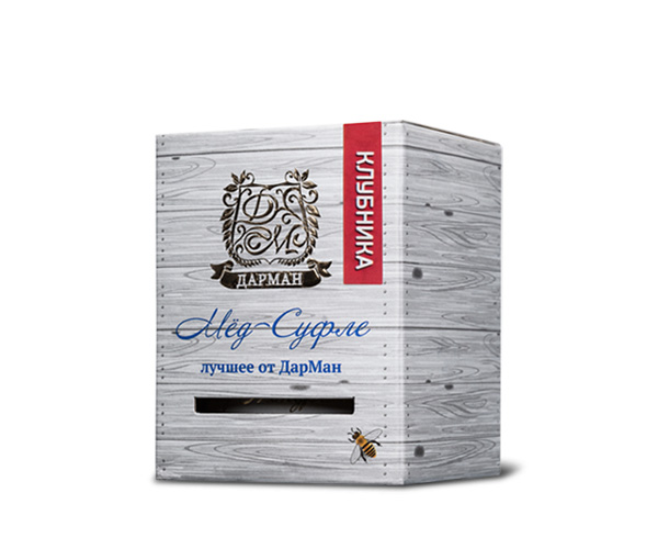 Мёд суфле клубника ДарМан / 250 гр.
